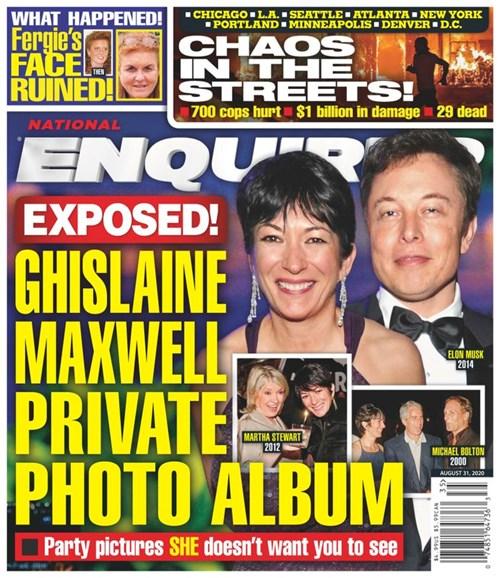 National Enquirer Cover - 8/31/2020