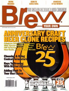 Brew Your Own   9/2020 Cover