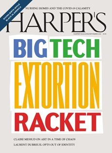 Harper's | 9/2020 Cover