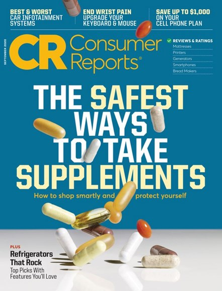 Consumer Reports Cover - 9/1/2020