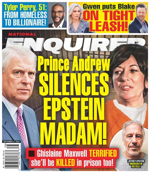 National Enquirer Cover - 9/21/2020