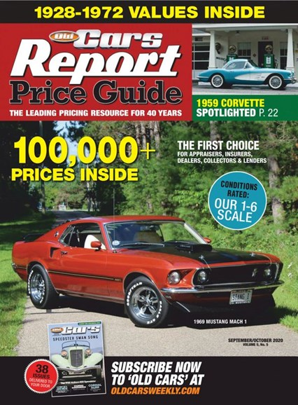 Old Cars Report Price Guide Cover - 9/1/2020