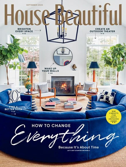 House Beautiful Cover - 9/1/2020