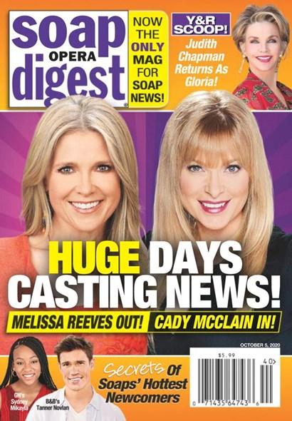 Soap Opera Digest   10/2020 Cover