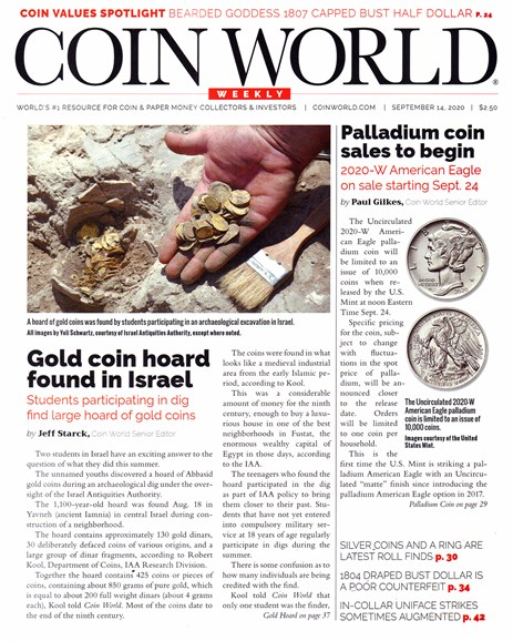 Coin World Weekly Cover - 9/14/2020