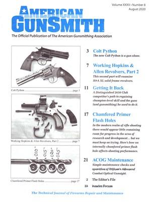 American Gunsmith Magazine | 8/2020 Cover
