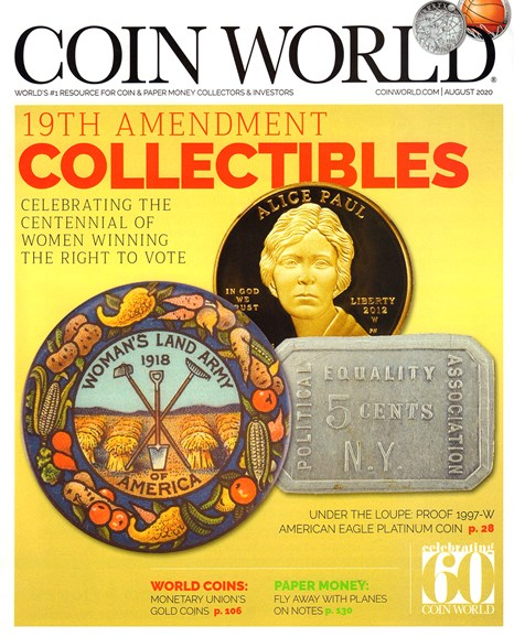 Coin World Monthly Cover - 8/1/2020