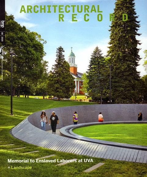 Architectural Record Cover - 8/1/2020