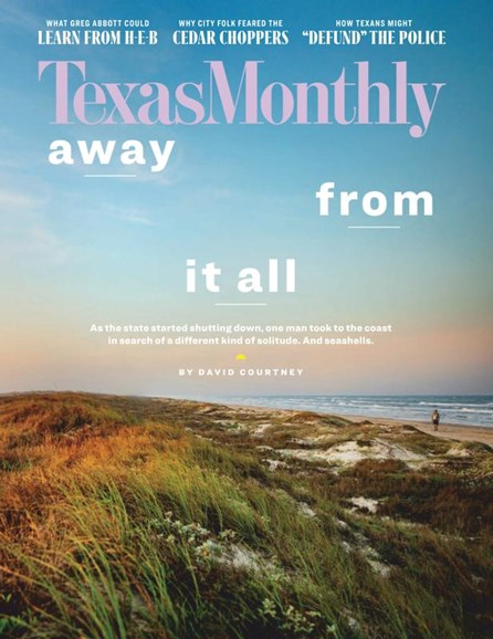 Texas Monthly Cover - 8/1/2020