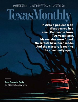 Texas Monthly Magazine | 10/2020 Cover