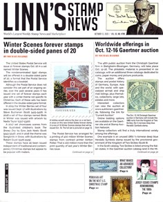 Linn's Stamp News Weekly | 10/2020 Cover