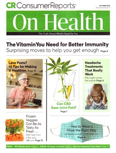 Consumer Reports On Health | 10/2020 Cover