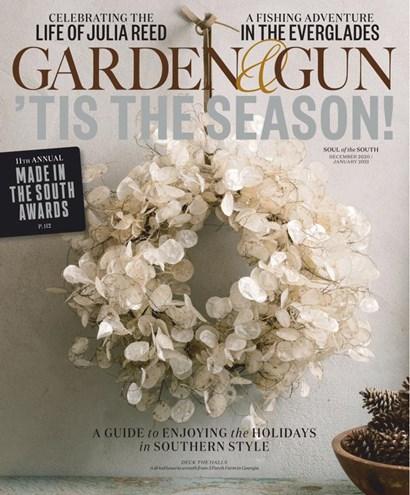 Garden & Gun   12/2020 Cover
