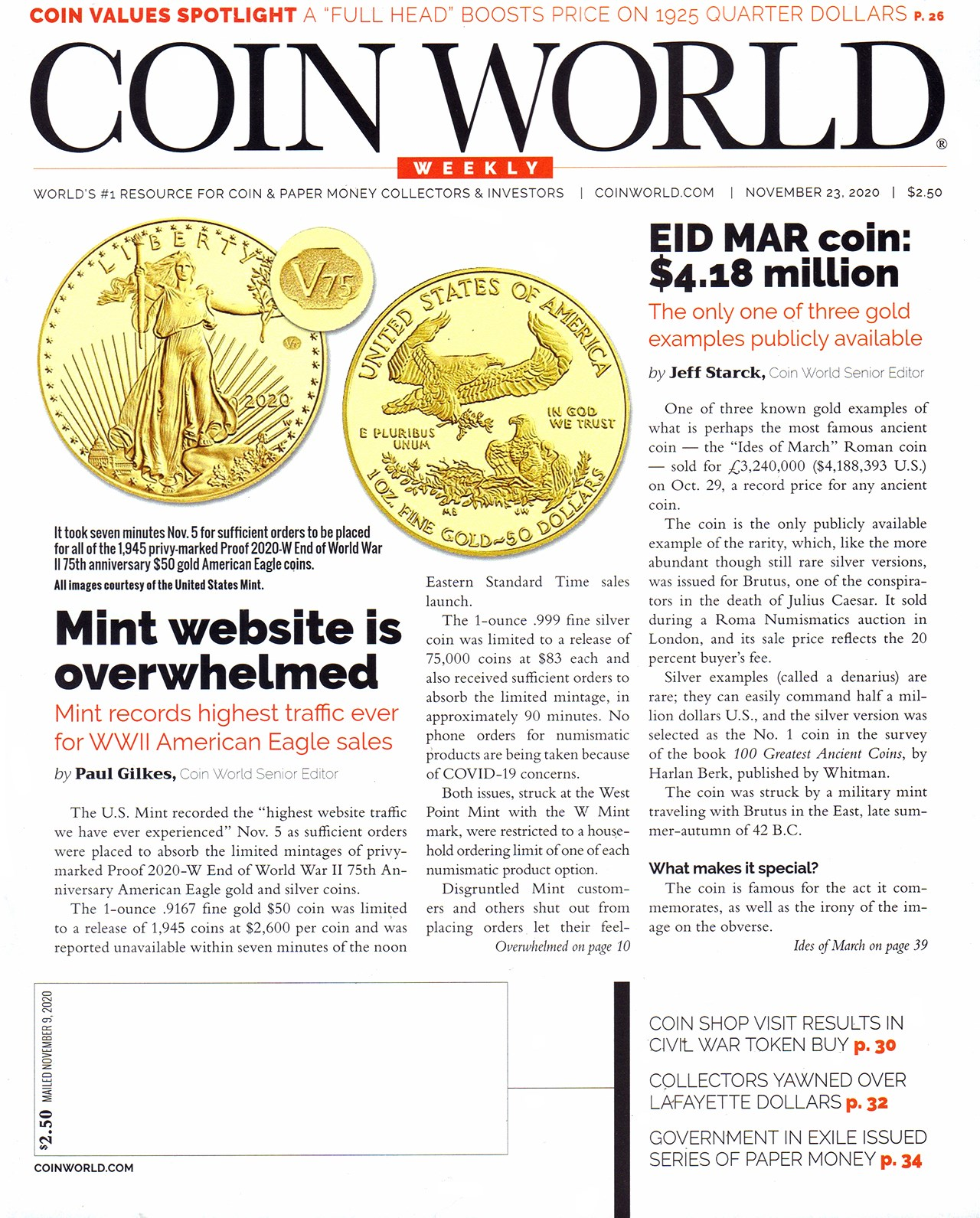 coin world magazine back issues